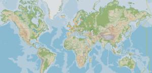 Карта офисов Blue Water Shipping